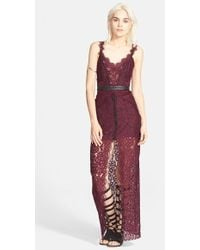 Free People Lace Column Maxi Dress - Lyst