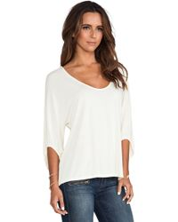 Michael Stars 34 Sleeve Swingy Cropped Top - Lyst