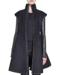 Gareth Pugh Black Flare Coat - Lyst