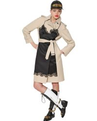 Moschino Silk Chemise & Cotton Canvas Trench Coat - Lyst