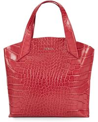 Furla Jucca Croc-Embossed Leather Tote - Lyst