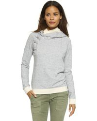 Maison Scotch - Home Alone Hoodie - Grey Melange - Lyst