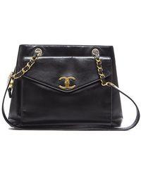 Chanel Preowned Lambskin Cc Pocket Shoulder Bag - Lyst