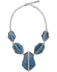 Vince Camuto - Mother Of Pearl Resin Necklace - Lyst