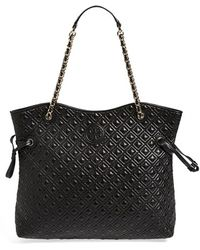 Tory Burch 'Marion' Quilted Slouchy Tote - Lyst