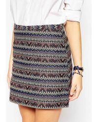 Oasis | Jacquard Mini Skirt | Lyst