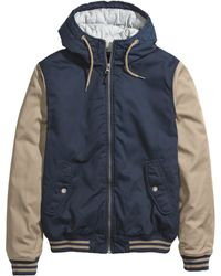 H&M Blue Padded Jacket - Lyst