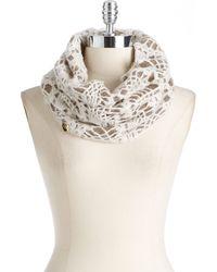 Betsey Johnson Lacy Knit Infinity Scarf