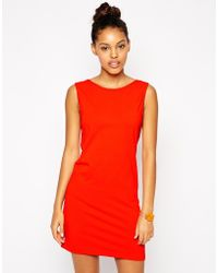 American Apparel Scoop Back Dress orange - Lyst