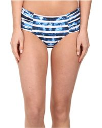 Seafolly Inked Stripe Ruched Side Retro Bottom - Lyst