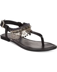 Rampage Preingly T-Strap Thong Sandals black - Lyst