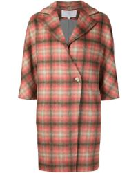 Thakoon Addition - Checked Double Breasted Coat - Lyst