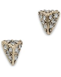 House of Harlow 1960 - Pave Triangle Stud Earrings - Lyst