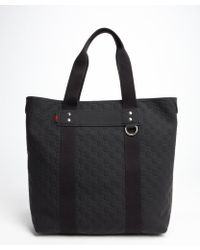Gucci Navy Ssima Pattern Leather Tote Bag - Lyst