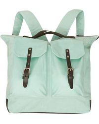 Ally Capellino - Green Frank Two Pocket Waxy Bag - Lyst