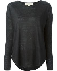 MICHAEL Michael Kors Oversized Knit Sweatshirt - Lyst