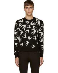 McQ by Alexander McQueen Black Swallow Sweater - Lyst