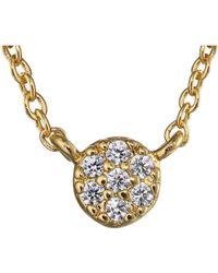 Gorjana Shimmer Disc Necklace - Lyst