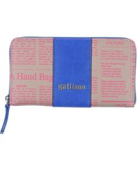 John Galliano Blue Wallet - Lyst