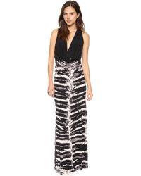 Young Fabulous & Broke Lisle Maxi Dress Black Skeleton Wash - Lyst