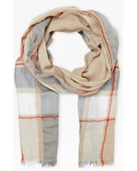 French Connection Milo Checked Scarf - Lyst