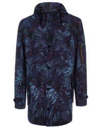 Paul Smith Indigo 'Acid Jungle' Print Buggy Lined Parka blue - Lyst