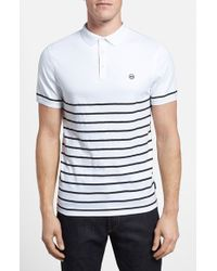 AG Adriano Goldschmied Green Label 'The Sebastian' Short Sleeve Cotton Polo - Lyst