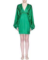 Stella McCartney | 'etta' Beaded Silk Blend Bell Sleeve Dress | Lyst