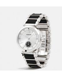 Coach 941 Sport Stainless Steel Leather Link Bracelet Watch - Lyst