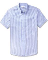 Alexander McQueen Bengal Striped Cotton Short-sleeve Shirt - Lyst
