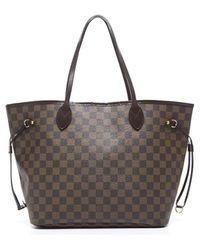 Louis Vuitton | Pre-owned Damier Ebene Neverfull Mm Bag | Lyst