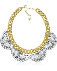 Juicy Couture Flower Cluster Collar Necklace - Lyst