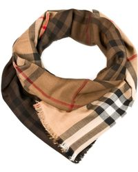 Burberry Brown Scarf - Lyst