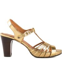 Chie Mihara Strappy T-Bar Sandals - Lyst
