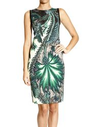 Roberto Cavalli Dress Sleeveless Jersey Print Psichedelic Tapestry - Lyst