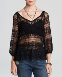 Free People Top  Saturdays Lace - Lyst