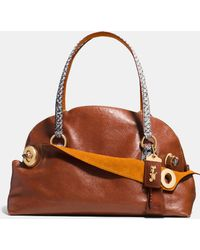 COACH | Outlaw Satchel 42 In Colorblock Python | Lyst