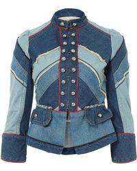Marc By Marc Jacobs - Blue Denim Chevron Victorian Jacket - Lyst