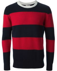Band Of Outsiders Striped Jumper - Lyst