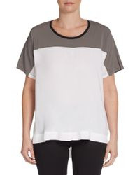James Perse Colorblock Short Sleeve Top - Lyst