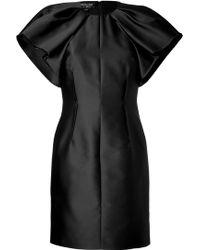 Giambattista Valli Duchess Dress with Ruffle Sleeves - Lyst