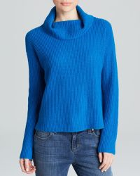 Eileen Fisher Funnel Neck Sweater - Lyst