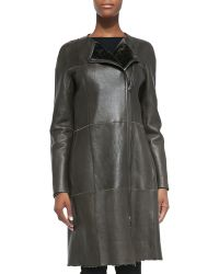 Kaufman Franco Reversible Leather/Shearling Fur-Lined Jacket - Lyst
