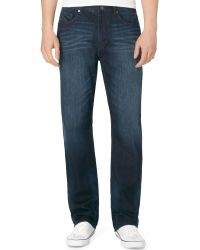 Calvin Klein Relaxed Straight Osake Blue Jeans - Lyst
