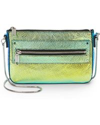 Milly Avril Holographic Leather Mini Bag - Lyst
