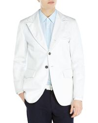 Ann Demeulemeester Ivory Two-Button Textured Woven Blazer - Lyst
