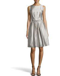 Escada Docus Silk Pleated Dress - Lyst