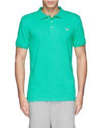 Maison Kitsuné Fox Embroidery Polo Shirt - Lyst