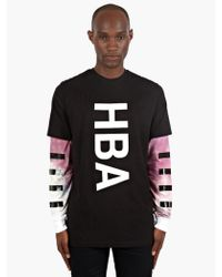 Hood By Air Mens Dual-layer Lightweight Sweatshirt - Lyst