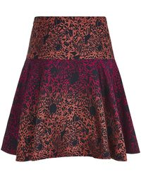 Matthew Williamson Wing Lace Brocade Flared Mini Skirt - Lyst